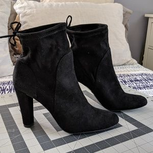 Black Stretch Micro Boots/Booties